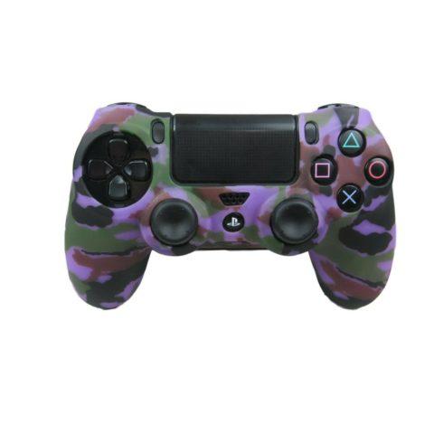 ps4-controller-grip-skin-purple-camo-silicone-soft-shell-non-slip