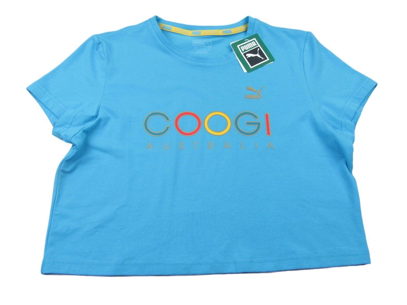 1386f41c6fd PUMA X Coogi Australia Crop Tee Size Large Womens Blue Short Sleeve $40