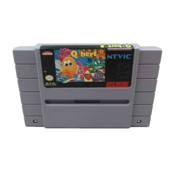 qbert-3-super-nintendo-snes-classic-video-game-cartridge-only-pins-cleaned