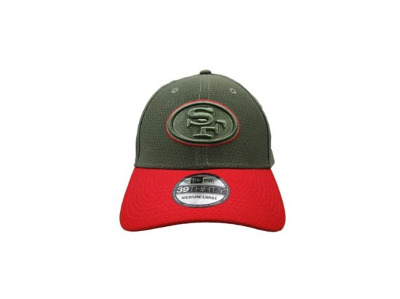 san-francisco-49ers-new-era-salute-to-service-medium-large-fitted-hat-39thirty