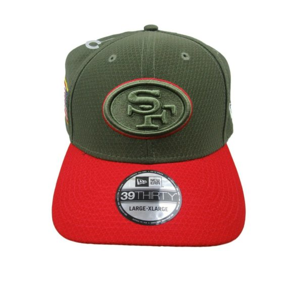 san-francisco-49ers-new-era-salute-to-service-size-large-xl-fitted-hat-39thirty