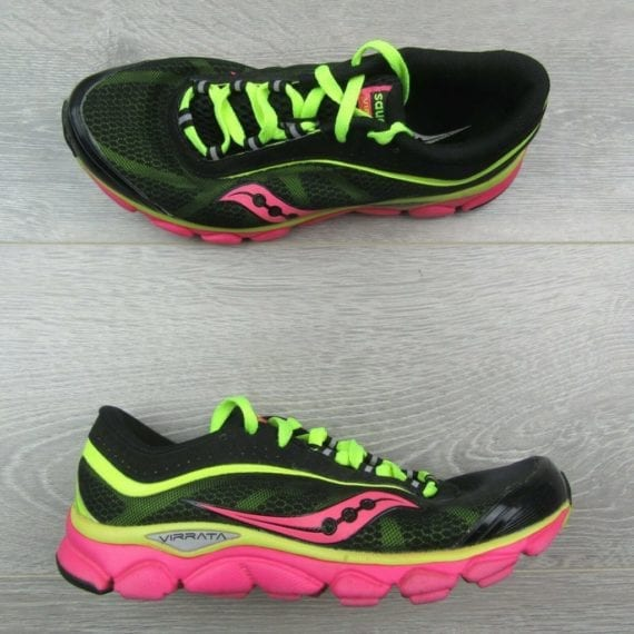saucony-virrata-womens-size-7-5-grid-trail-running-shoes-black-pink-10175-1