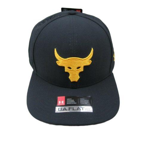 d1a6851fb9451 Under Armour UA X Project Rock Mesh Black Snapback Cap Flat Hat New