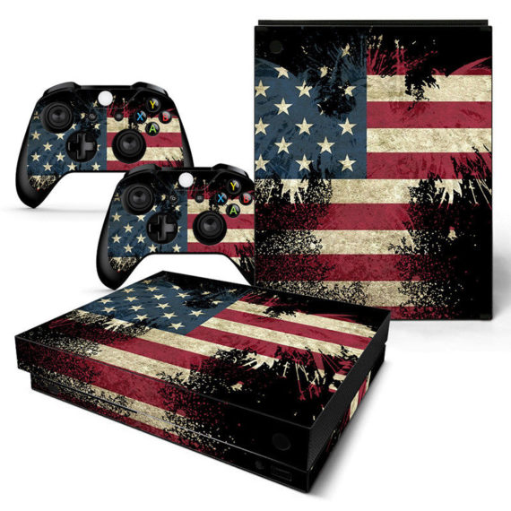 xbox-one-x-american-flag-console-2-controllers-decal-vinyl-skin-sticker-xbx