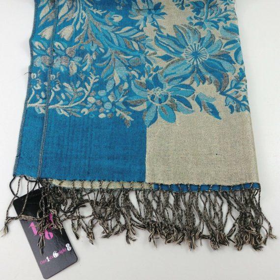 100-cashmere-pashmina-shawl-wrap-blue-gold-womens-scarf-wrap