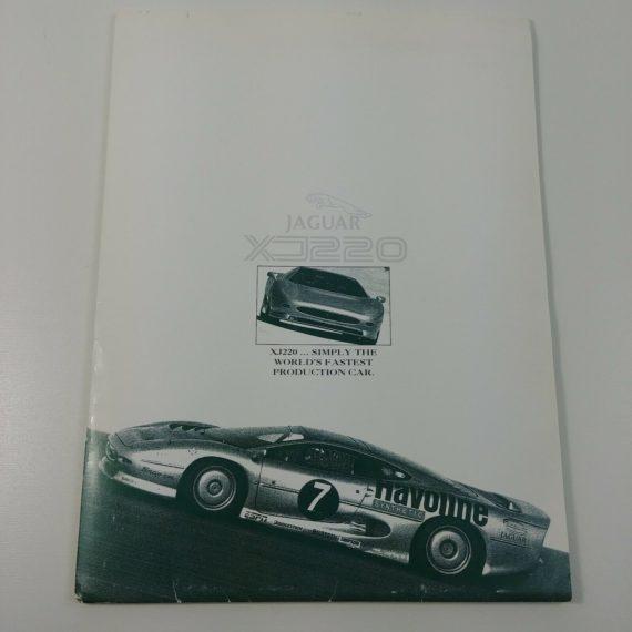 1994-jaguar-xj220-xj6-advertising-print-booklet-luxury-car-visual-aid-vintage-ad