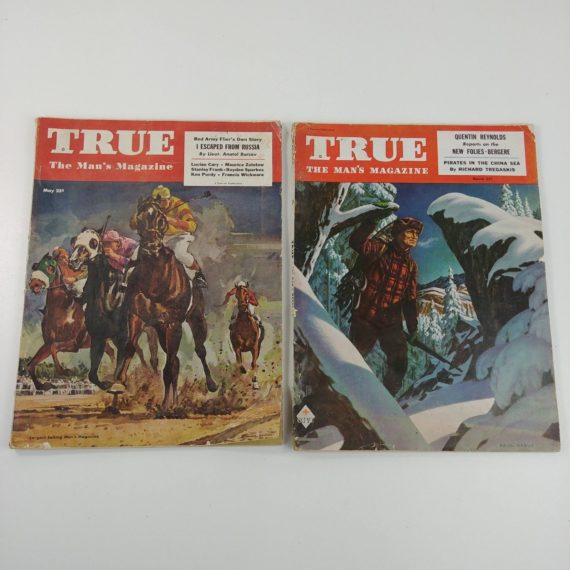 2-1949-true-the-mans-magazine-vintage-snow-hunting-horse-racing