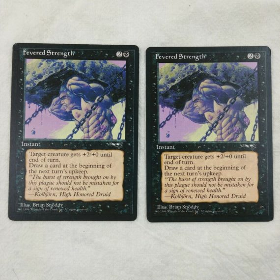 2-fevered-strength-instant-black-magic-the-gathering-mtg-card-lot-15