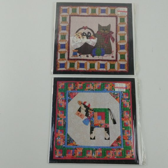 2-quilt-top-patterns-kitty-cat-farm-cow-sewing-craft-pattern-5