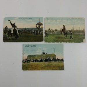 3-butte-chinook-great-falls-montana-cowboy-outlaw-antique-rodeo-hay-postcards