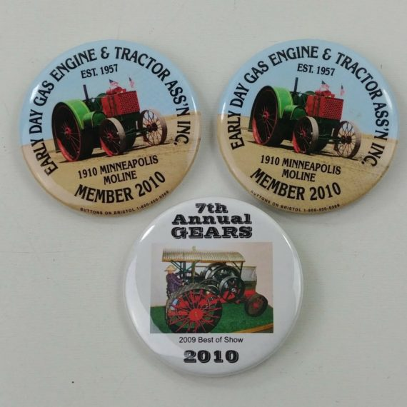 3-early-day-gas-engine-tractor-pinback-button-pins-member-2010-best-show-1