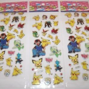 3-sheets-puffy-japan-anime-pokemon-stickers-pikachu-us-ship-e-lot-12