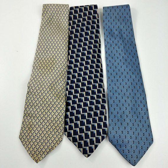 3-silk-mens-bill-blass-silk-tie-lot-bold-square-geometric-designs-lot-03