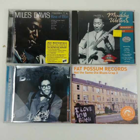 4-blues-music-cds-fat-possum-bo-diddley-mannish-boy-miles-davis-lot-25