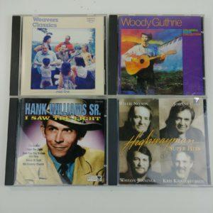 4-country-folk-music-cds-weaver-woody-guthrie-hank-williams-highwayman-1