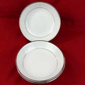 4-harmony-house-cereal-bowls-6-1-4-platinum-trim-rim-shape-3835-lot-24