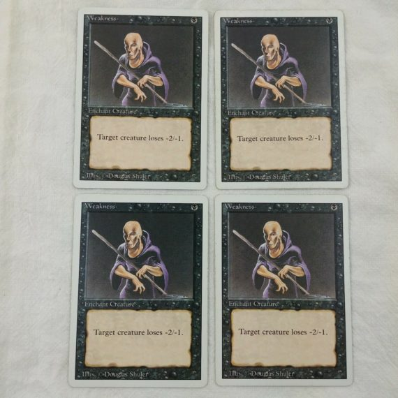 4-weakness-enchant-creature-black-magic-the-gathering-mtg-card-lot-25