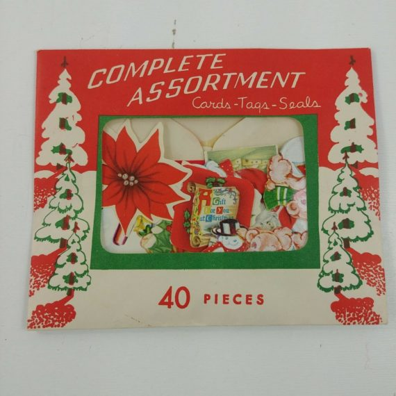 40-christmas-seals-old-fashioned-open-envelope-unused-small-santa-lot-08
