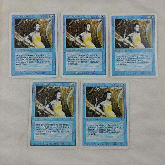 5-creature-bond-enchant-creature-blue-magic-the-gathering-mtg-card-lot-35