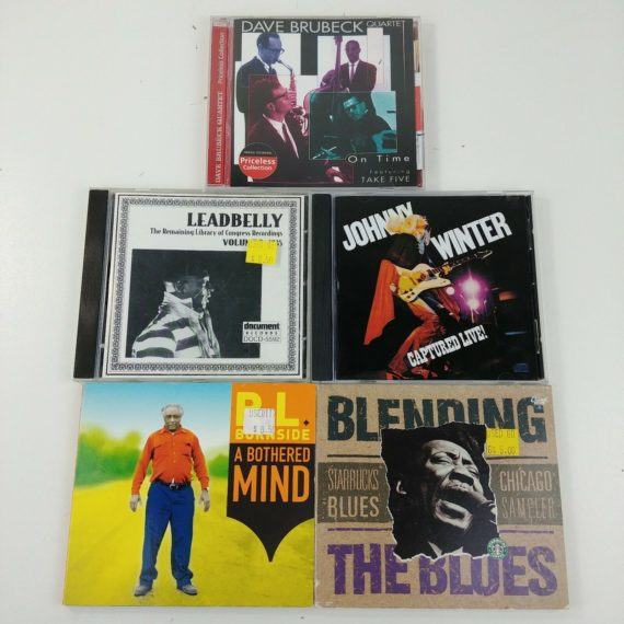5-jazz-blues-cds-johnny-winter-dave-brubeck-leadbelly-rl-burnside-lot-18