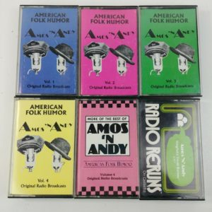 6-cassette-tape-lot-amos-n-andy-audio-original-radio-recordings-folk-humor