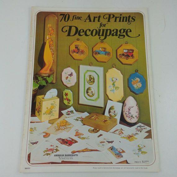 70-fine-art-prints-for-decoupage-american-handicrafts-craft-book-vintage