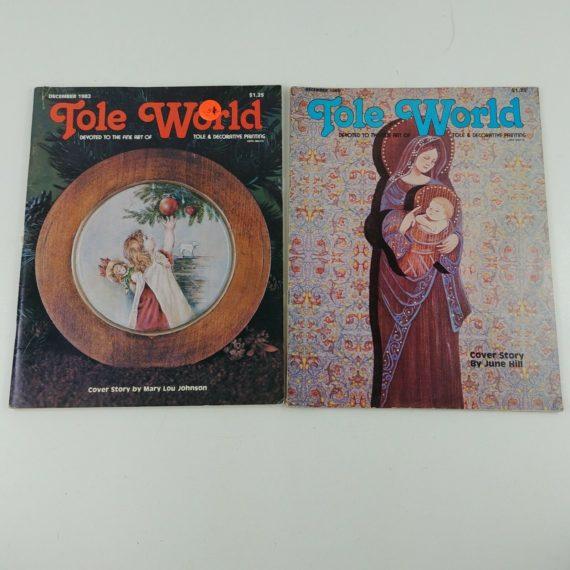 80s-tole-world-magazines-christmas-patterns-dec-1980-1982-decorative-lot-1