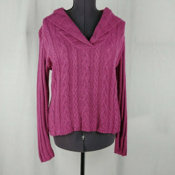 a2-pink-purple-chunky-knit-pullover-sweater-cowl-neck-long-sleeve