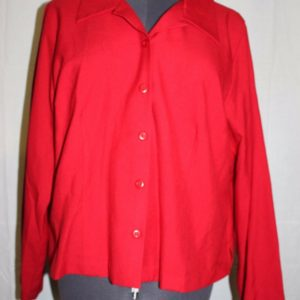 adolfo-studio-womens-red-size-18w-button-down-shirt-blouse