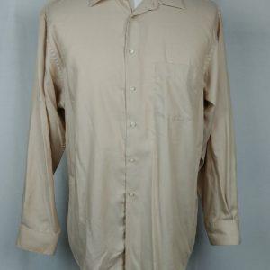 alfani-easy-care-beige-button-up-dress-shirt-mens-size-16-1-2-l-34-35