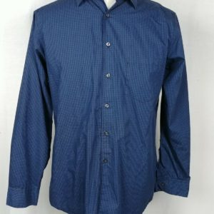alfani-fitted-blue-plaid-button-up-long-sleeve-dress-shirt-mens-size-16-34-35