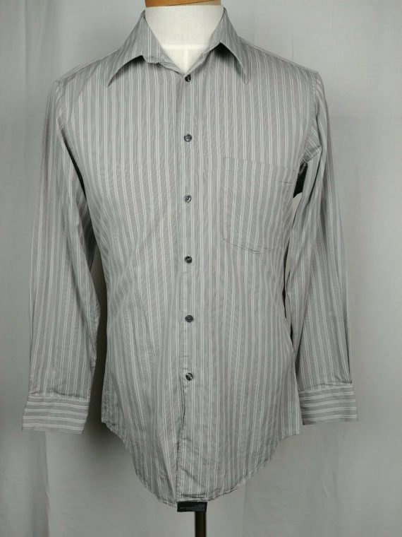 alfani-fitted-gray-striped-button-down-dress-shirt-long-sleeve-mens-sz-m-15
