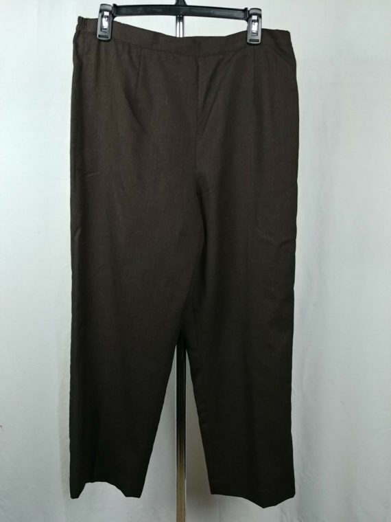 alfred-dunner-100-wool-brown-dress-pants-womens-size-12