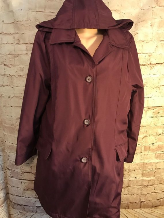 alfred-dunner-womens-lined-coat-jacket-purple-removable-hood-size-l-vgc