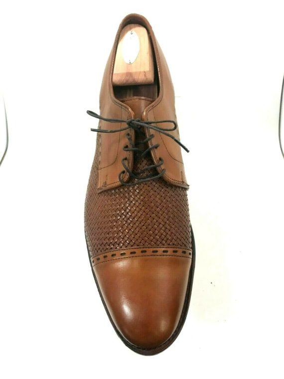 allen-edmonds-new-orleans-walnut-leather-basketweave-oxford-sz-12d-4142