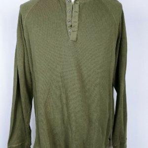 alpine-design-green-henley-long-sleeve-partial-button-shirt-mens-size-l