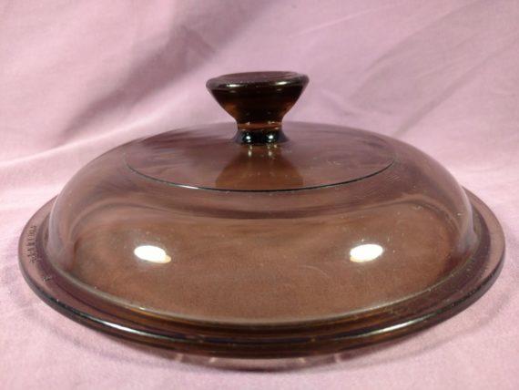 amber-glass-replacement-dish-lid-pyrex-v-1-c-36-5-3-4-dia-circle-29