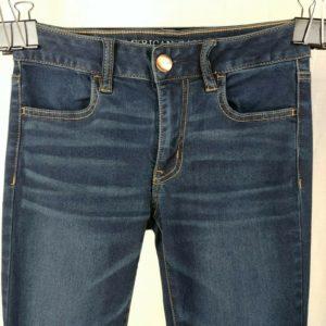 american-eagle-dark-blue-skinny-jeans-womens-size-4-short-super-super-stretch