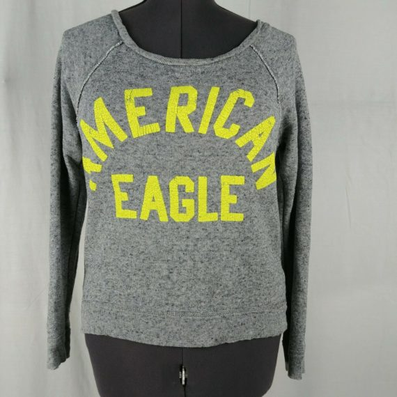american-eagle-gray-comfy-slouchy-pullover-sweater-sweatshirt-womens-size-s