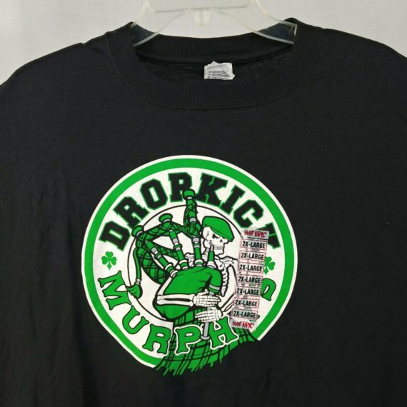 anvil-hot-topic-dropkick-murphys-skeleton-bagpipes-green-clover-shirt-mens-2xl