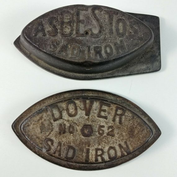 asbestos-dover-no-62-sad-iron-no-handles-antique-doorstop-bookend-lot-display