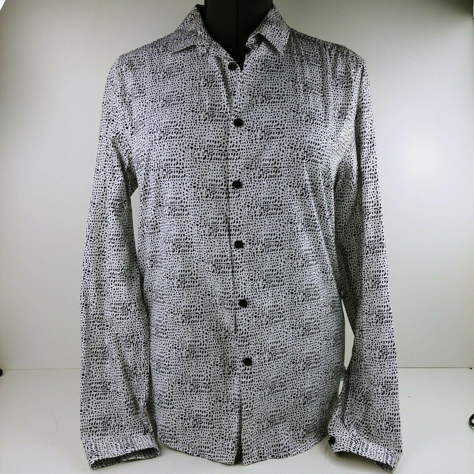 3fd7d073e15865 Asos Women's Black & White Button-up Shirt Blouse Size M Long Sleeve Work  Career