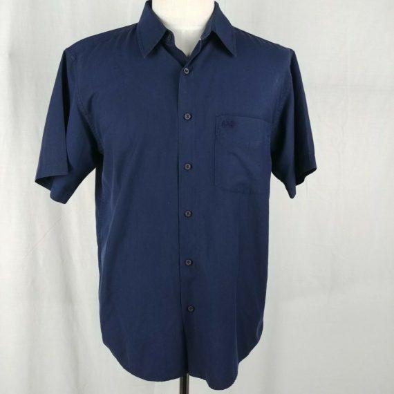 attitudes-blue-short-sleeve-button-up-shirt-mens-size-l