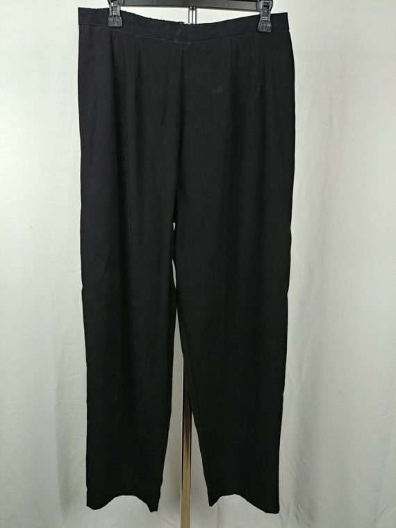 audris-black-casual-comfy-stretch-pants-womens-size-14
