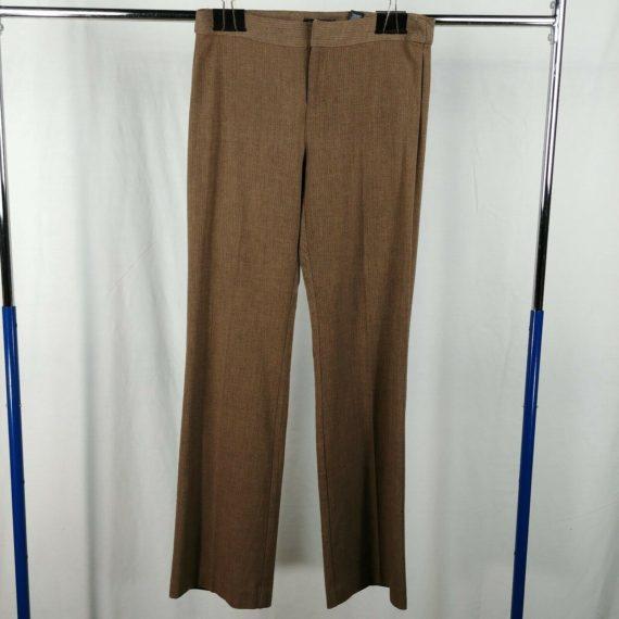 axcess-brown-herringbone-pattern-slacks-dress-pants-womens-size-8-straight-leg