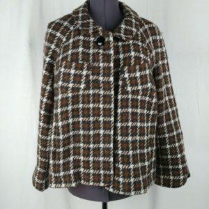 banana-republic-brown-plaid-peacoat-jacket-warm-wool-blend-womens-size-l