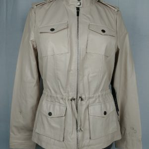 bebe-energetic-anabeth-leather-tan-leather-jacket-womens-size-l-defects