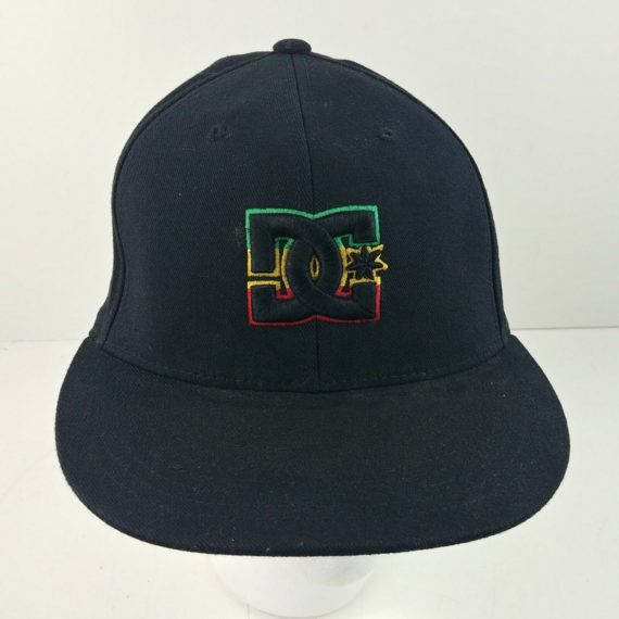 black-rasta-dc-shoes-210-fitted-6-7-8-7-1-4-baseball-snapback-cap-hat-9
