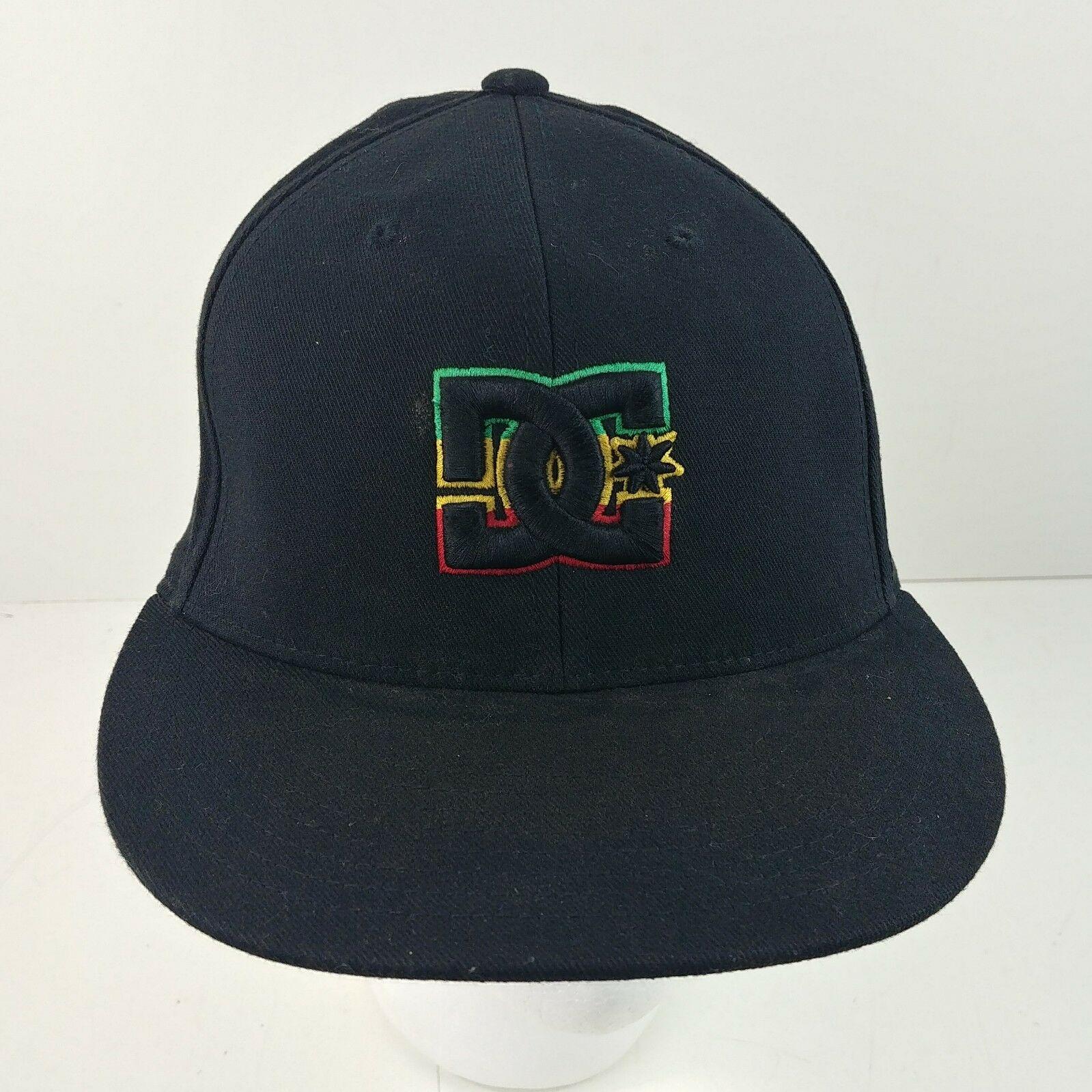 0779b856 Black Rasta DC Shoes 210 Fitted 6-7/8 – 7-1/4 Baseball Snapback Cap Hat – #9