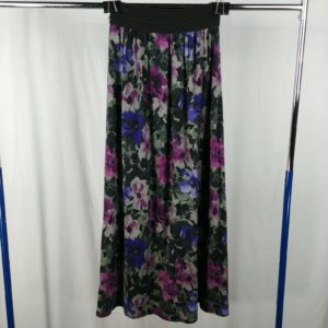 blue-purple-floral-long-maxi-skirt-black-25-waist-size-small